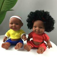 10 inch Black Girl Dolls African American Play Dolls Clothes Toys Models Gifts