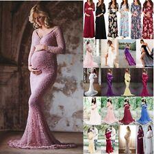 Women Maternity Summer Maxi Long Dress Gown Evening Pregnancy Photography Props