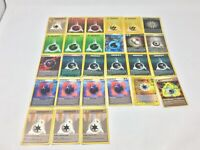 Lot Of 27 Pokemon Cards, Energy Cards Rare Holo Vintage Rainbow Darkness +