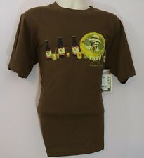 NEW PANAMA JACK Medium M BROWN Pale Ale Crew Neck Short Sleeve T Shirt NWT