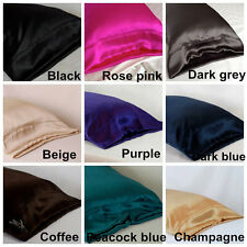 New 100% Silk Housewife Pillowcase Pure Silk Pillowcase Fit Standard Queen King