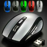 2.4GHz Wireless 1600DPI Cordless Optical Mouse Mice USB Receiver PC Laptop Game