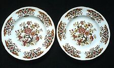 Colclough Royale Brown/Rust/Black/Gold  Patt 8 inch Plates x2 ( 9 available )