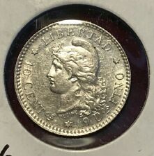 ** ARGENTINA 1883, 10 CENTS SILVER...SCARCE **