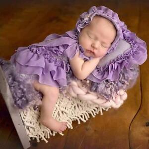 5Pcs/Set Baby Hat+Pillow+Romper Jumpsuit+Shoes+Headwear Newborn Photography Prop