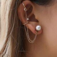 1PC Punk Rock Chain Tassel Dangle Ear Cuff Wrap Women Earrings Jewelry Cool Girl