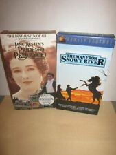 Pride and Prejudice Volume 2 & The Man From Snowy River VHS LOT