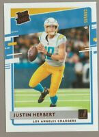 Justin Herbert 2020 Donruss Rated Rookie Canvas #303 Chargers