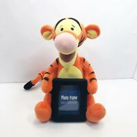 "Disney Tigger Plush with Picture Frame Stuffed Animal Photo Holder 12"""
