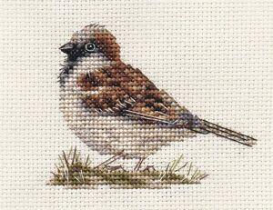 SPARROW Garden Bird  Full counted cross stitch kit + all materials  *FIDO STUDIO