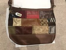 Gorgeous Vintage Designer Coach Leather Patchwork Handbag
