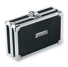 Vaultz Locking SUPPLY BOX Mesh Pocket & Elastic Pencil Band Black Silver w/ Key