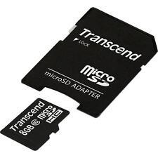 Transcend * Kapazität 8 GB * microSDHC Karte + Adapter * Class 10 (Premium) *