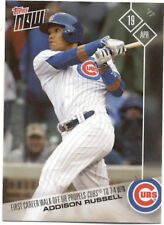 Addison Russell Chicago Cubs Topps Now #62 April 19 2017 Baseball Card