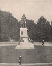 President James A Garfield Monument, Washington DC 1895 old antique print