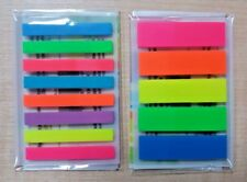 650 NEW FLURO COLOR FLAG REPOSITIONABLE STICKY NOTE MARKER INDEX TAB BOOKMARK