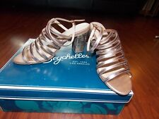 Worn Once! Seychelles Rose Gold Leather Caged Stack Heal, 8.5