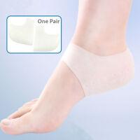 1 Pair Silicone Gel Heel Protector Plantar Fasciitis Pain Relief Cushion Unisex