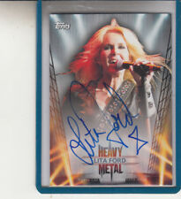 "2013 TOPPS HEAVY METAL LITA FORD ""KISS ME DEADLY/RUNAWAYS""  AUTOGRAPH AUTO"