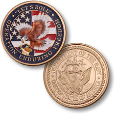 "BIG US Navy ""Let's Roll"" Challenge Coin Operation Enduring Freedom OEF USN Afgh"