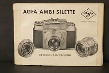 F66043~ Agfa Ambi Silette Instruction Manual 29 Pages