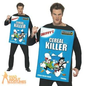 Cereal Killer Costume Mens Funny Halloween Fancy Dress Adult Novelty Outfit New