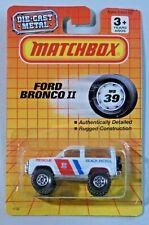 Matchbox Ford Bronco II No. 39 Beach Patrol Vintage 1990 Diecast Car New on Card