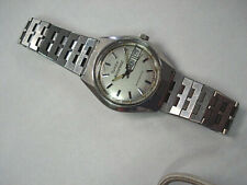 VINTAGE 1979 TIMEX AUTOMATIC DAY DATE STAINLESS STEEL WITH ORIG BRACELET 10979