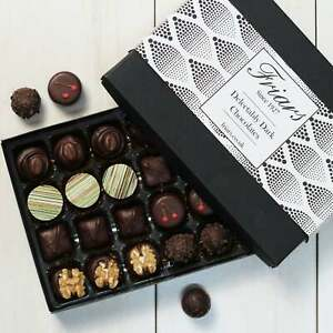 Friars Luxury Delectably Dark Chocolates Gourmet Selection Assortment - 24 Chocs