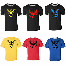 Herren Pokemon Go Team Mystic Instinct Pokeball Kurzarm Tee T-Shirt Jersey Tops