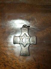 Sterling star of david cross vintage