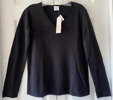 NWT Motherhood Maternity Womens Black Long Sleeve V-Neck Maternity Sweater Small