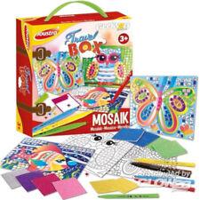 Mosaik Bastelset Kreativset Kinder Mosaiksticker Vorlagen zum Bekleben + Stifte