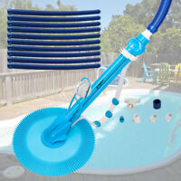 Auto Swimming Pool Cleaner Hassle-Free Floor Vacuum with 10pcs Durable Hose Blue