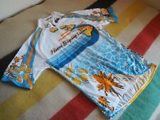 SUGOI Hawaiian Cycling League Bicycle Road 1/2 Zip Jersey Mens Medium Ocean EUC