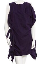 Louis Vuitton Indigo deconstructed Ruffled trim  Dress FR-42 US-10