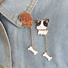 Delicate Creative 2pcs/set Kids Gift Cute Dogs Bone Brooches Badge Jewelry