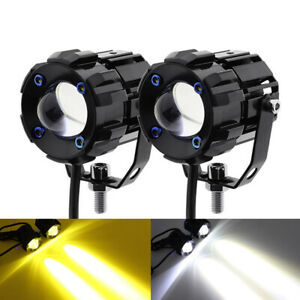 Motorcycle Car Boat ATV LED Round Work Light Headlight Spotlight Fog Lamp 1Pair