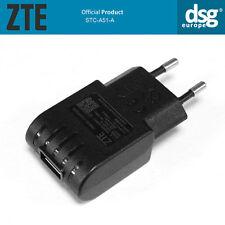 ORIGINAL ZTE STC-A51-A EU CHARGER PLUG Output 5V / 1000mA BLACK