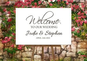 Wedding Sign Vinyl - Welcome to our Wedding (A3 Size)