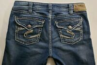 Silver Jeans Suki Surplus Womens Blue Denim Size 31 x 30 Boot Cut Medium Wash