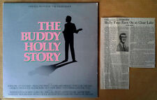 BUDDY HOLLY STORY - GARY BUSEY - LP SOUNDTRACK + ARTICLE - EPIC LABEL - 1978