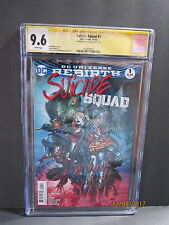 D.C. 2016 Suicide Squad #1 CGC 9.6 White Pages Signed by Jason Fabox 9/2/16