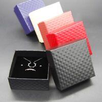 Geschenkschachtel Schmuckschachtel Geschenkbox Ring Schmucketuis Karton Schwarz