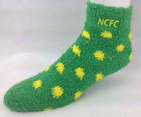 Norwich City Football Club Canaries NCFC Soccer Fuzzy Dot Sleep Socks One Size