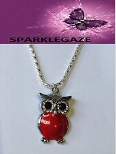 BRAND NEW 2017 RED OWL WITH RHINESTONES AND SP NECKLACE AUS SELLER 79