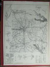 New Listing1964 Camp Titus Morris Carson Detail County Texas Maps W/ Streets Roads Railroad