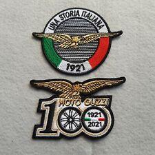 PATCH MOTO GUZZI 100 ANNIVERSARIO ORO+STORIA ITALIANA PZ 2 RICAMATA-REPLICA-442