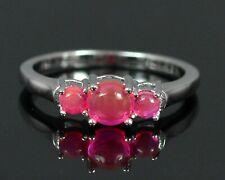 Round Cut Natural Ethiopian Pink Opal Gemstone 925 Sterling Silver Handmade Ring