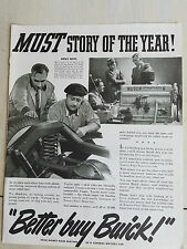 1937 1938 Buick Car Dynaflash Engine Must Story of the Year Original  Ad